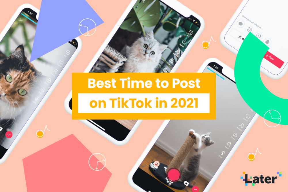 The Best Time To Post On Tiktok In 2021 Later Blog Best Time To Post Social Strategy Content Analysis