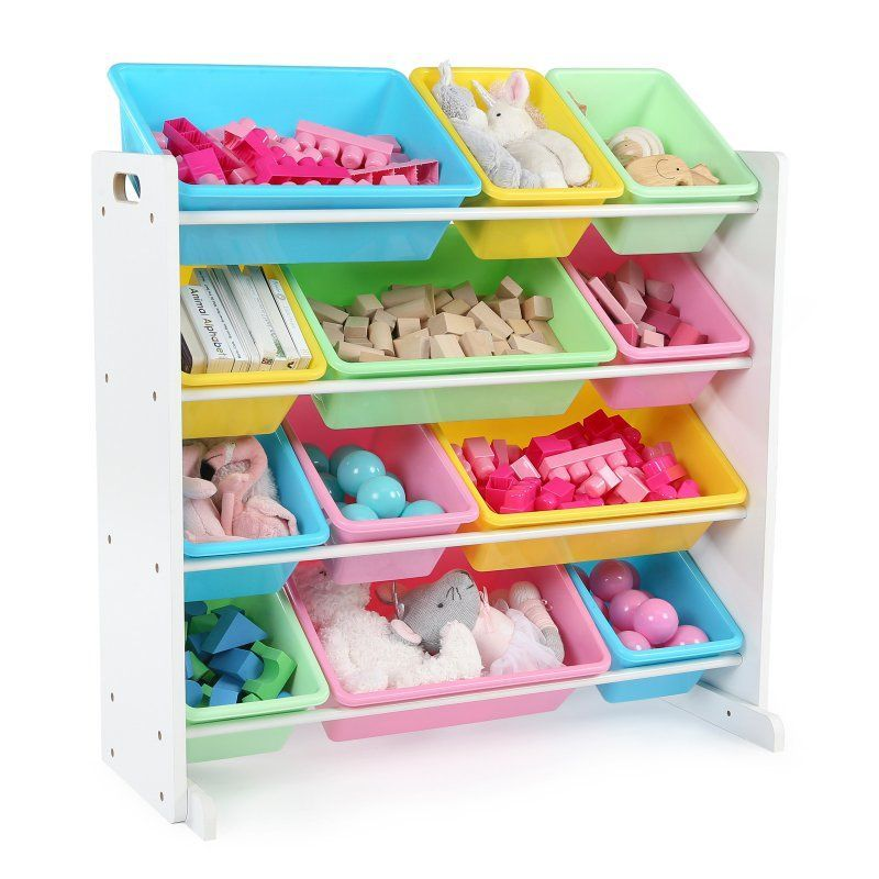 Tot Tutors Pastel Kids Toy Storage Organizer With 12 Bins Toy Storage Organization Kid Toy Storage Toy Storage Bins