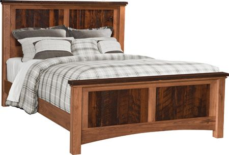 Up to 33 Off Lewiston Panel Bed with Reclaimed Barnwood Top and