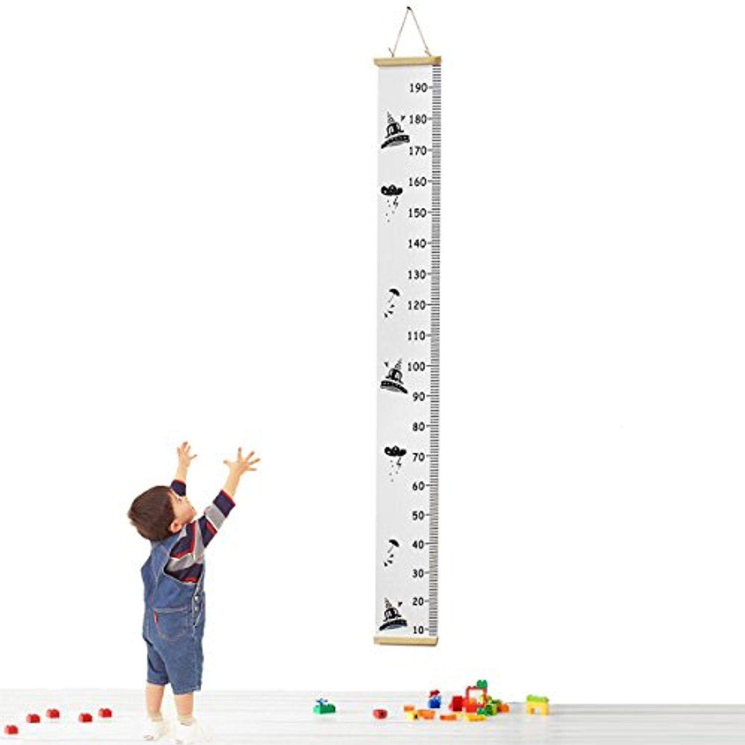 Jeteven baby growth chart height handing ruler roll up for kids jeteven baby growth chart height handing ruler roll up for kids canvas wood frame height chart wall decor 79 x 79 click image for more details nvjuhfo Images