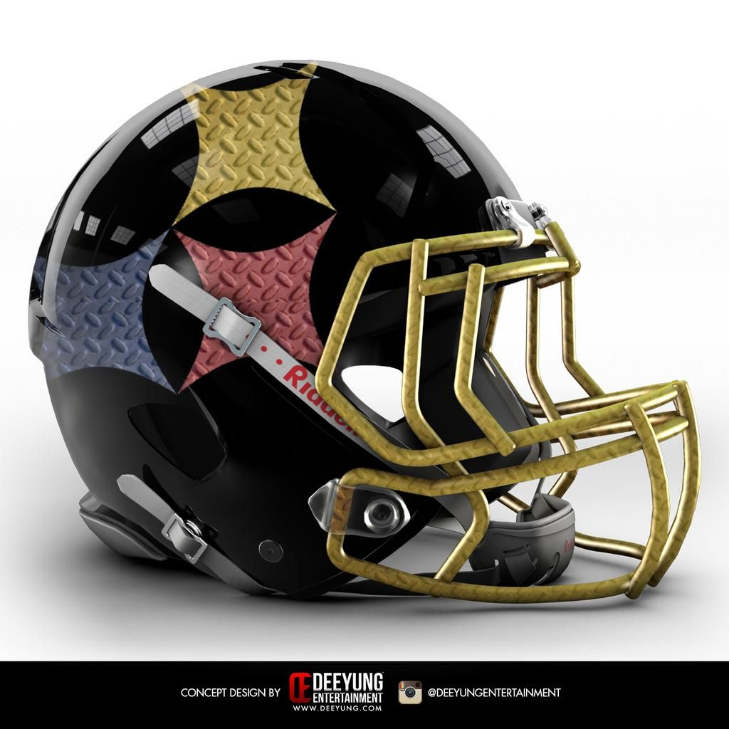 NFL Pittsburgh Steelers Concept Helmets -2015 Deeyung Entertainment took  this a step further by creating new helmets for all 32 teams. The designs  are ... 93a75023b