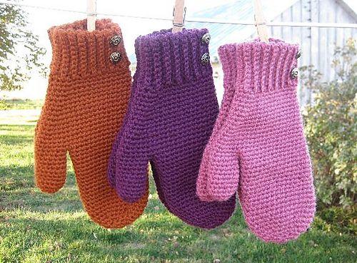 free crochet pattern, Mrs. Murdock\'s Mittens, Ravelry   Crochet ...