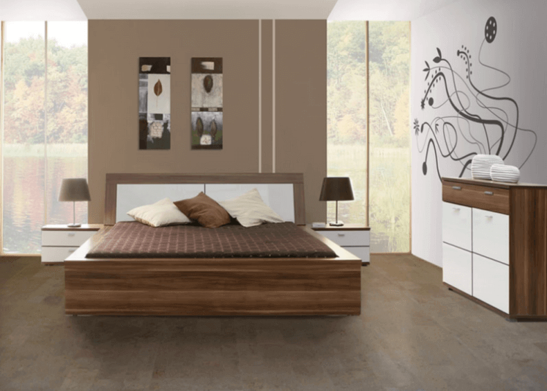 Taupe Cork Floors In A Master Bedroom Taupe Bedroom Guest
