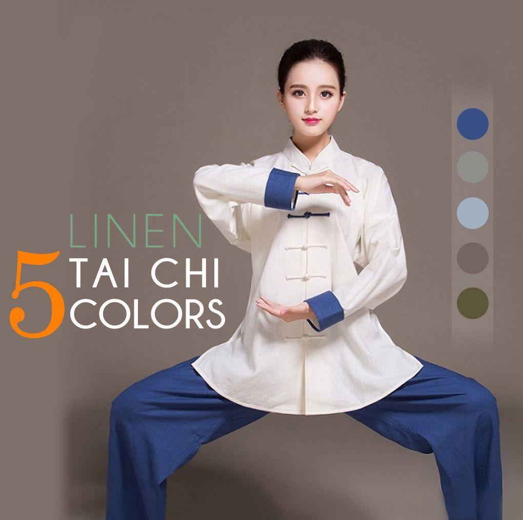 Women Dual-color Tai Chi Clothing • Qigong Uniform