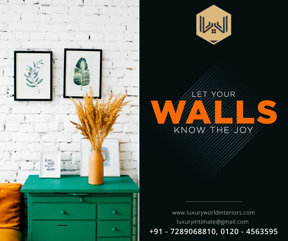 Let your walls know the joy. Get your home designed by the ...