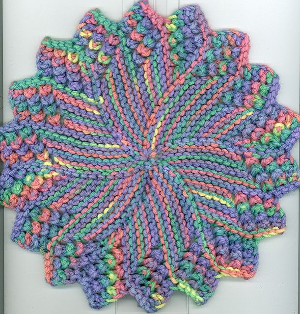 This Is A Variation Of Amy Carpenters Round Dishcloth I Tightened