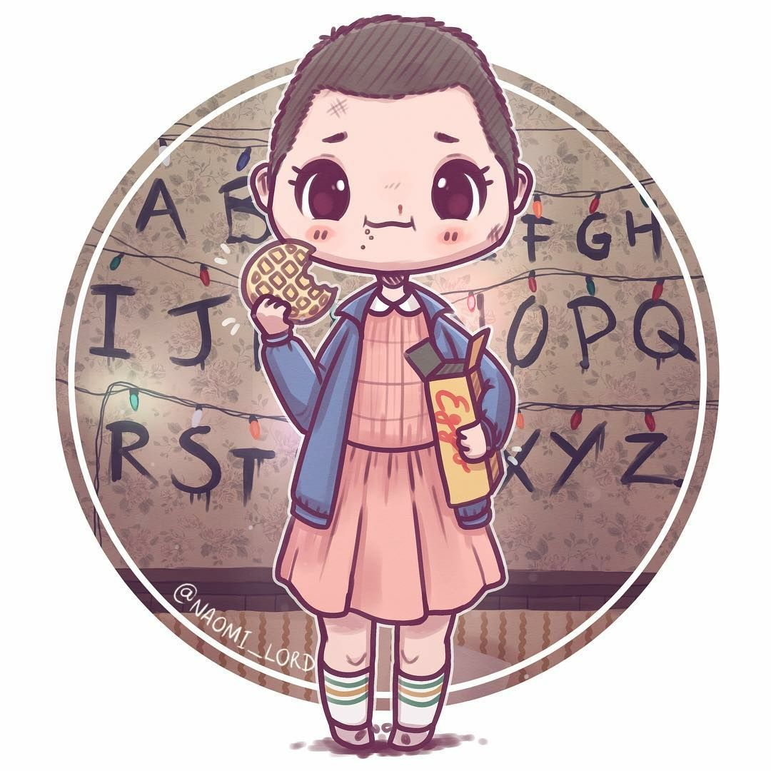 Stranger Things Eleven By Naomi Lord Stranger Things Sticker Cute Drawings Kawaii Drawings