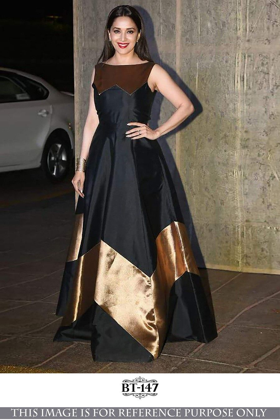 Bollywood Style - Madhuri Dixit In Black Fancy Gown - BT-147 ...