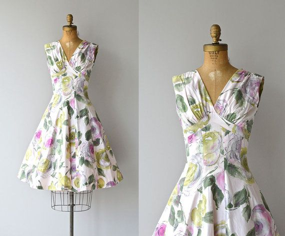 Aveleda Garden dress  vintage 1950s dress  floral by DearGolden - what a gorgeous dress, unfortunately xs