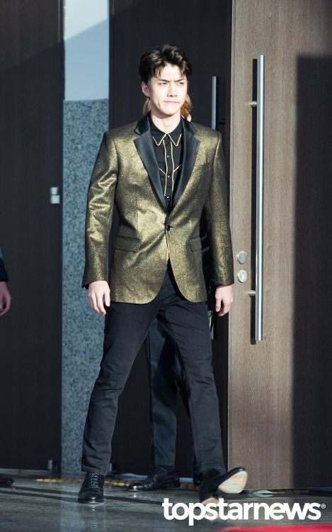 Sehun - 170114 31st Golden Disk Awards, red carpet Credit: TopStarNews. (제31회 골든디스크 어워즈)