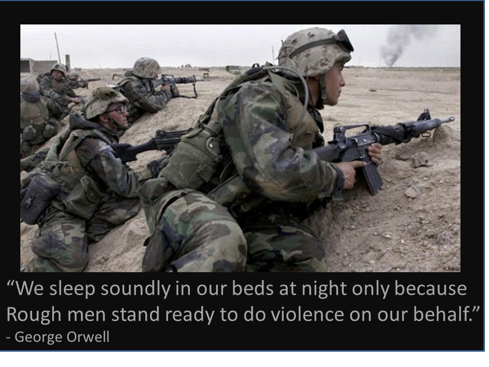 """Don't ever it """"We sleep soundly in our beds at"""