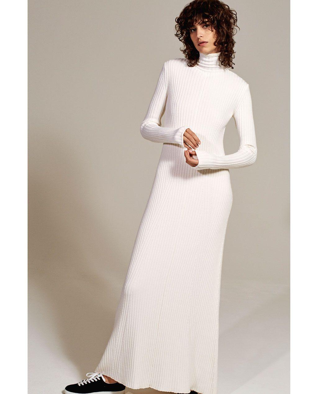 off-the-shoulder midi dress-dresses-woman | zara united