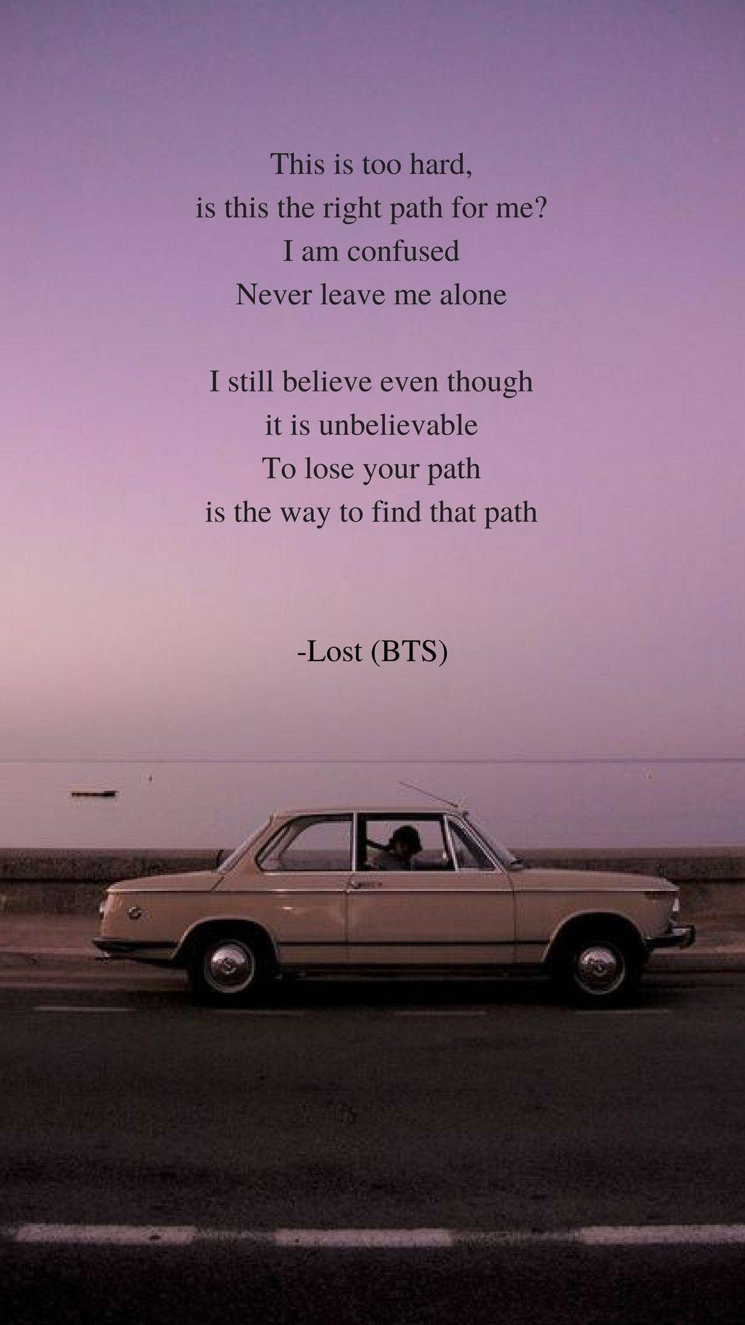 Lost by BTS Lyrics wallpaper