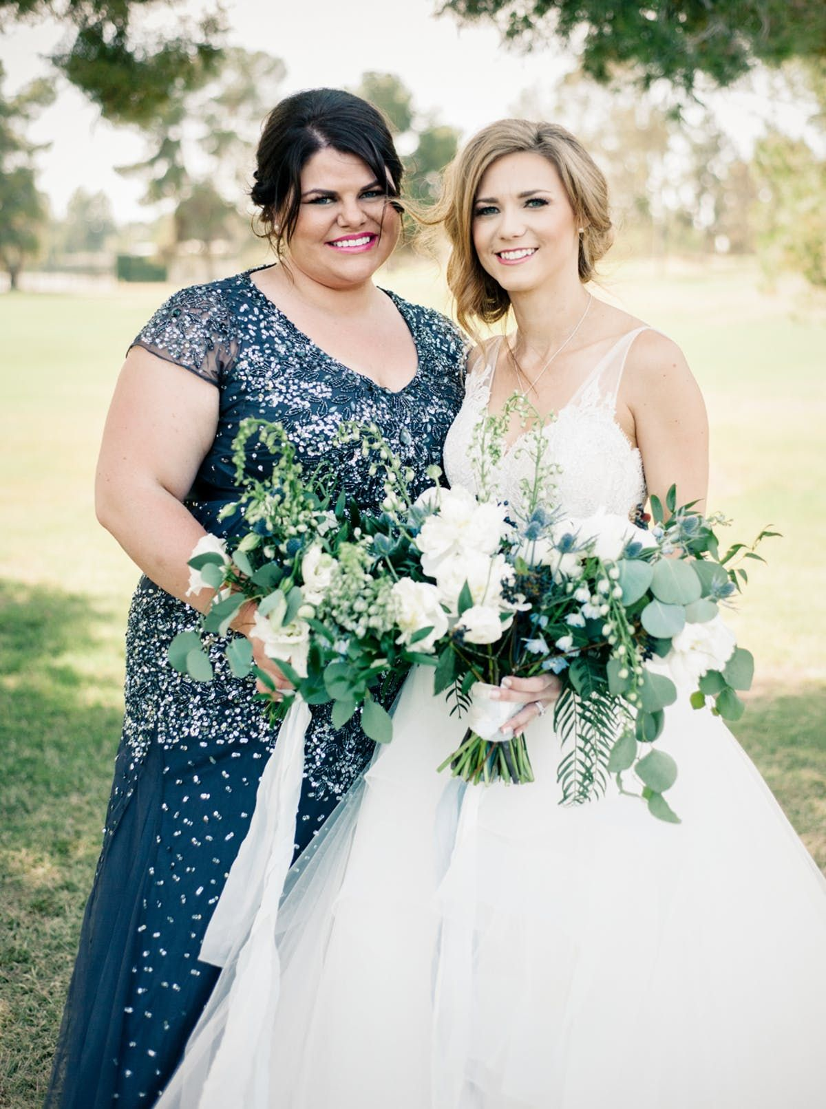 Traditional bluehued wedding in california hair and beauty