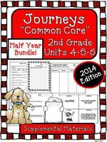 Half Year Bundle of Supplemental Activities for Journeys 2nd Grade Unit 4-5-6 2014 Edition
