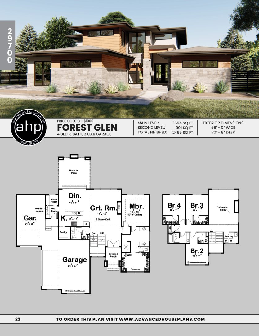 1 5 Story Modern Prairie House Plan