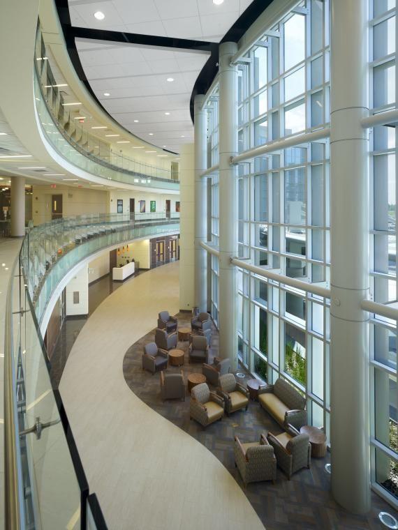 Florida Hospital Wesley Chapel's three-story atrium-lobby ...