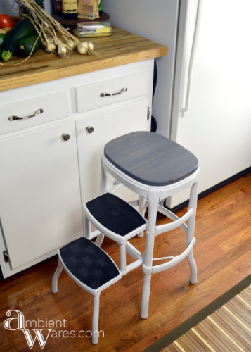 Vintage Cosco Step Stool Gets A Modern Farmhouse Styled Makeover