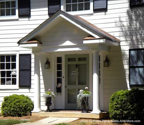 Front Porch With Gable Roof Design House Porch Design Portico