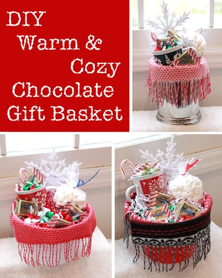 DIY Warm and Cozy Chocolate Gift Basket Ideas - I think I will be ...