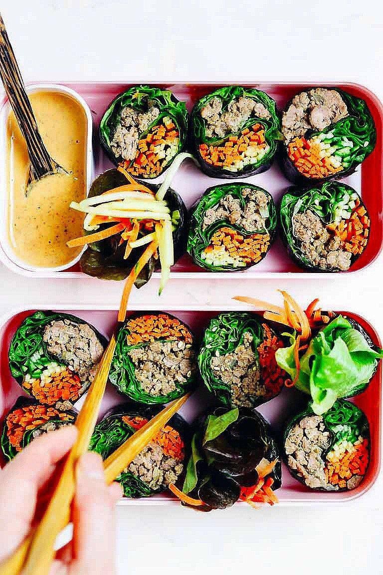 Paleo Bulgogi Beef Sushi Rolls (Korean Kimbap without rice ...