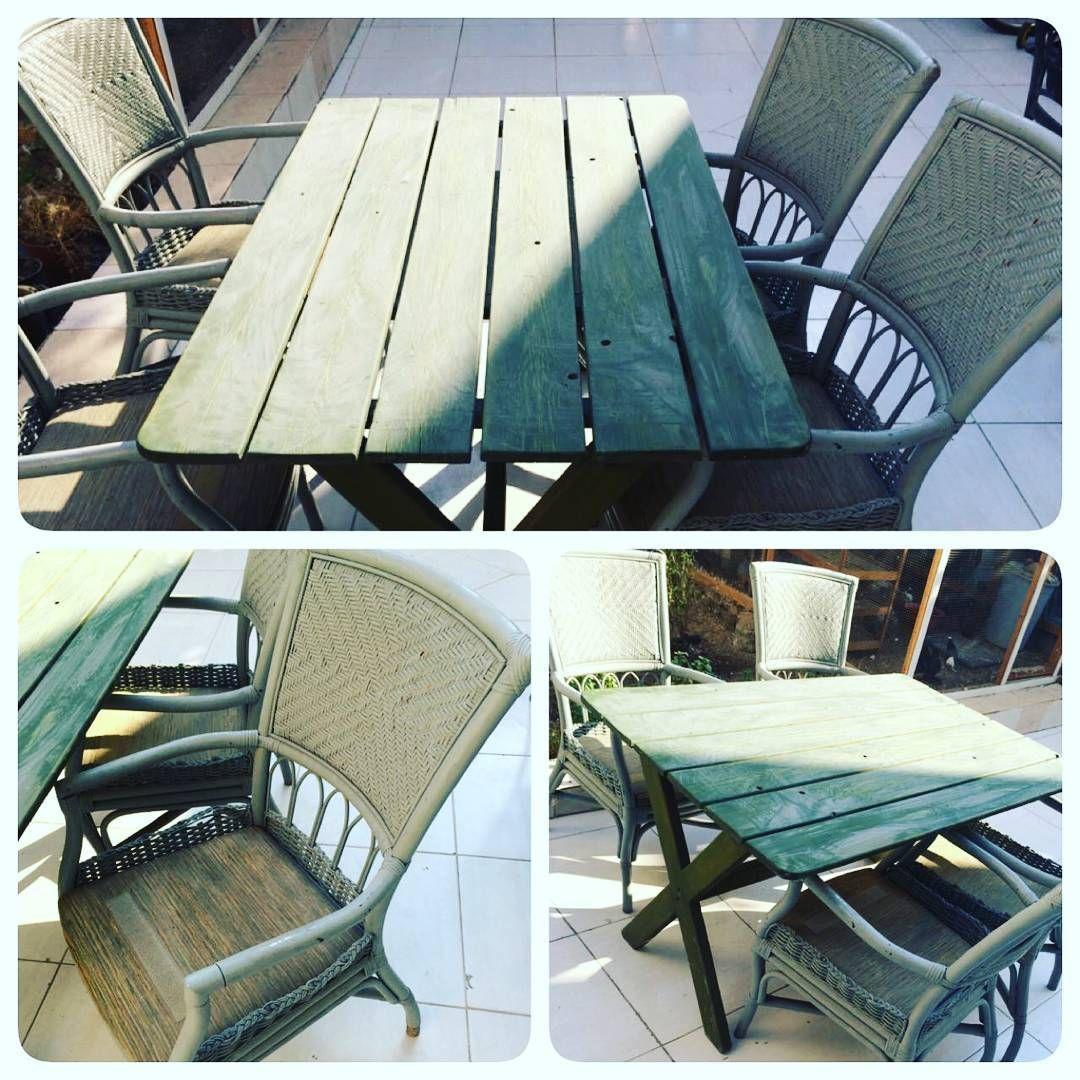 For Sale Wood Garden Table 4 Person Size 130x85 Good Condation Price 50 Bd للبيع طاولة حديقة خشب ل 4 اشخاص مقاس Outdoor Furniture Outdoor Decor Decor