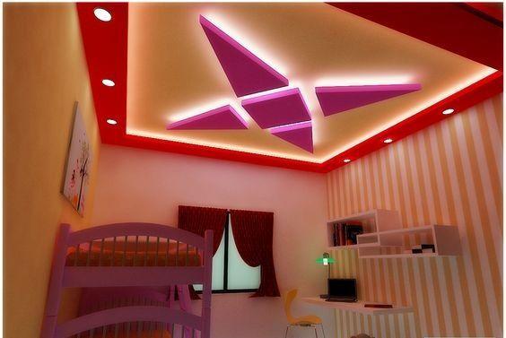 Bedroom False Ceiling Design Made Of Plaster Of Paris D1 False