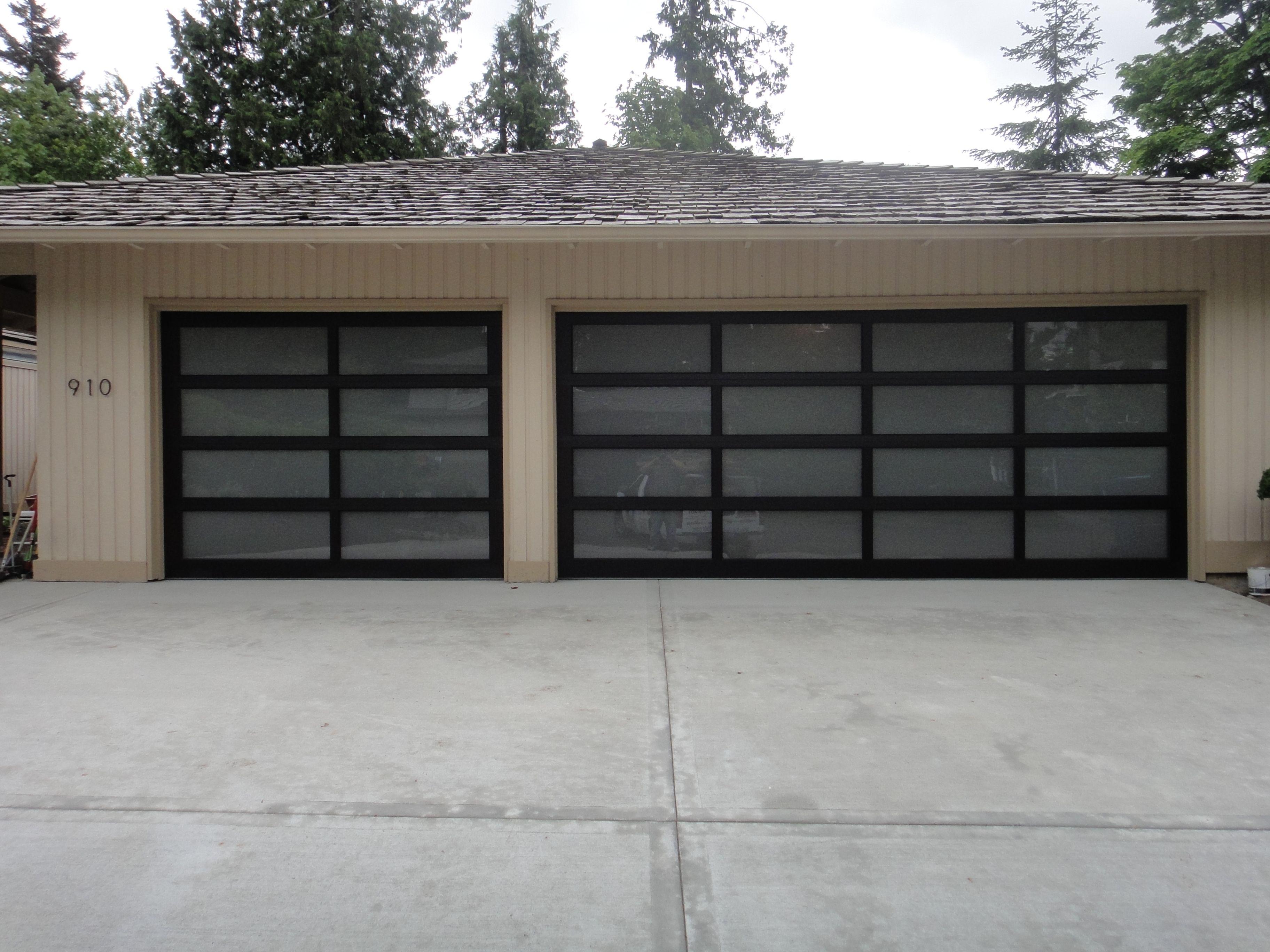 Illuminated Frost Garage Door Garage Doors Glass Garage Door Doors