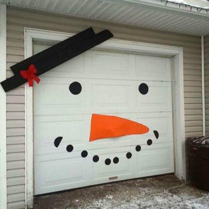 Home Decor Stickers Decoration DIY Christmas Snowman Decoration Outdoor Decorating Dress Garage Door Door Old Man Elk Bow Hat -   19 christmas decorations diy crafts ideas