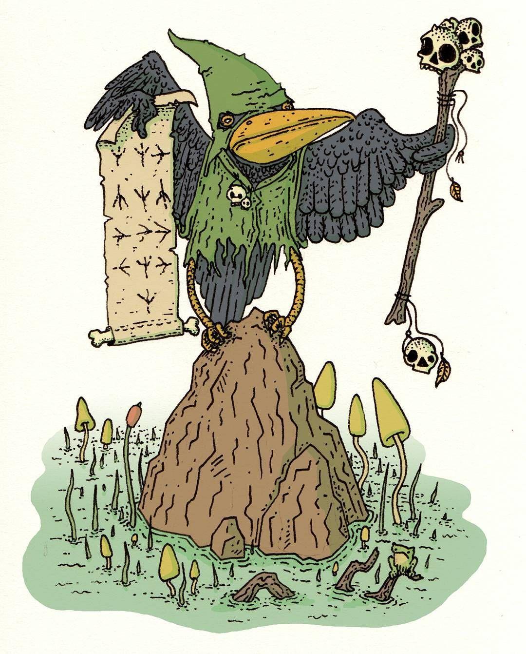 Reedfoot Krahhl Kenku Druid  Living deep in the swamps of