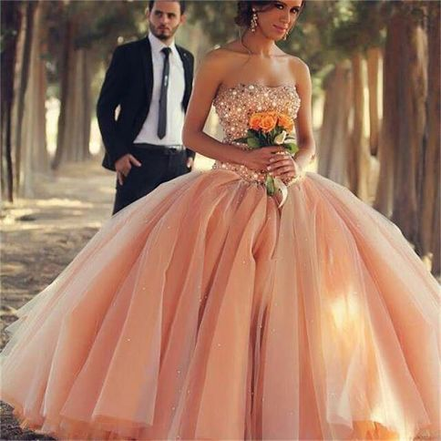 Imagenes De Vestidos De 15 Color Durazno Cheap Quinceanera