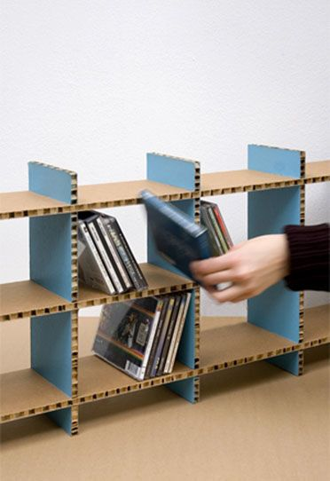 Modular Shelf Contemporary Cardboard Cdbox A4a Design