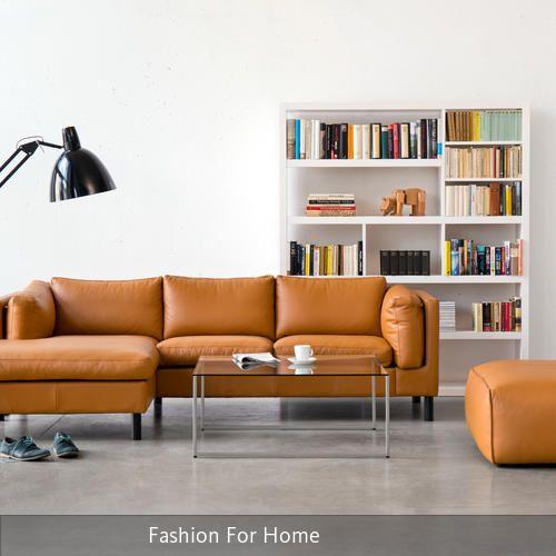Moderne Wohnzimmer im Leder-Look Interiors and House - moderne wohnzimmer couch