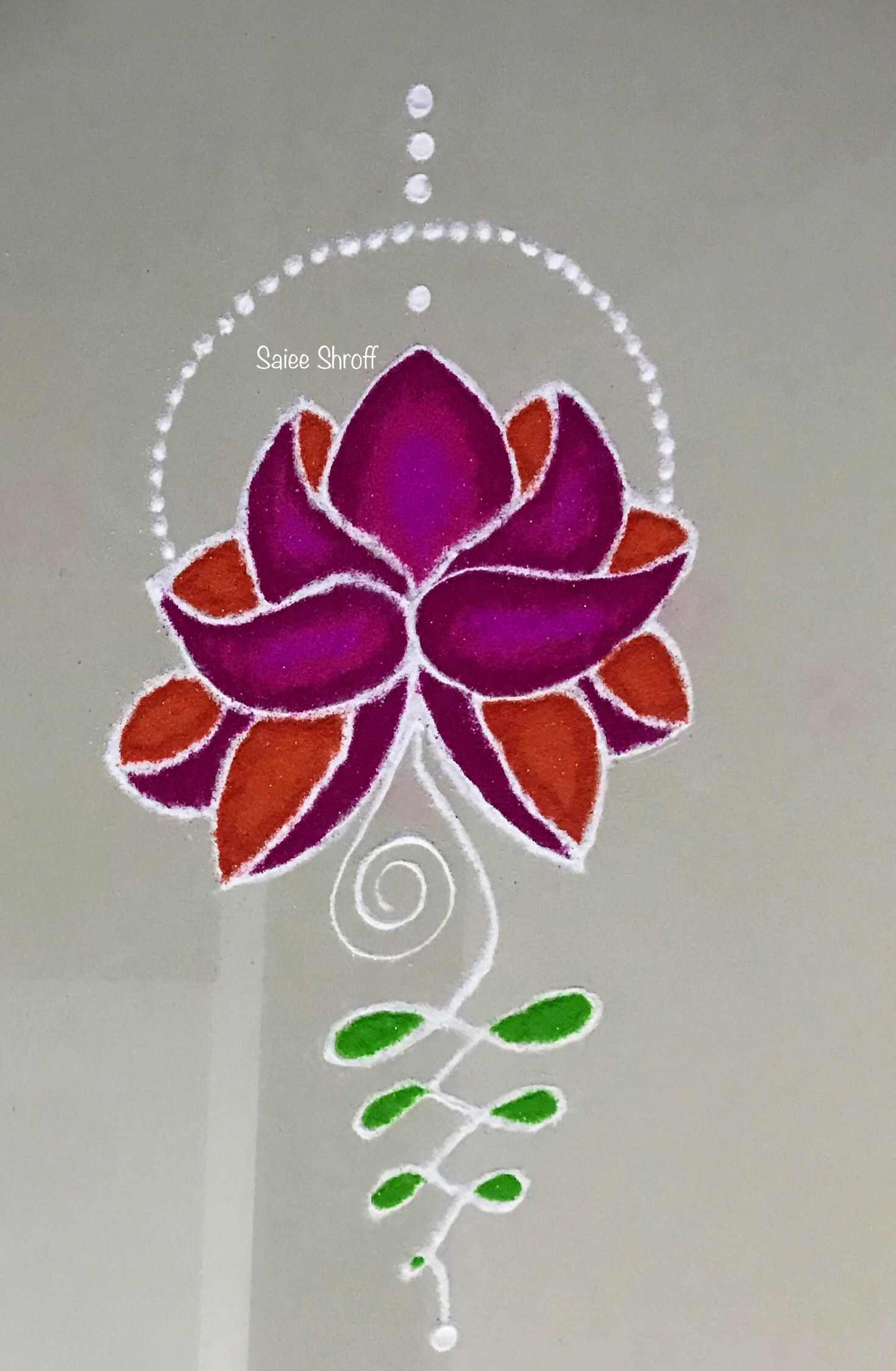 Lotus rangoli in 2020 Colorful rangoli designs, Flower