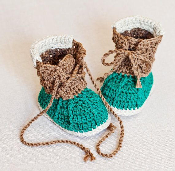Instant download - Baby Booties Crochet PATTERN (pdf file) - Crew ...