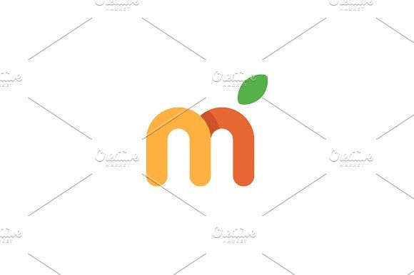 Fruit letter Templates The logo is perfect for media agency, PR - personal letter templates