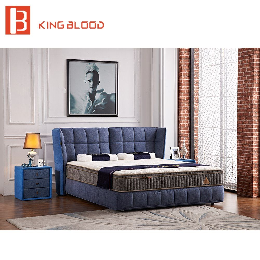 European Style Bedbroom Furniture Divan Bed Design Fabric King Size Queen Bed Frame Fabric Bed Frame Bed Design Fabric Bed