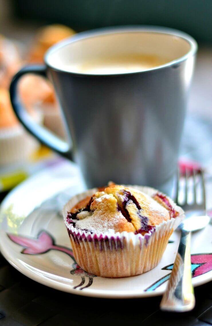 Strawberry & White Chocolate Muffins Recipe Coffee