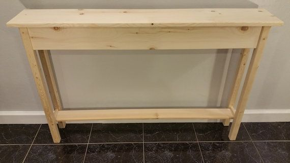 Console Sofa Wall Table With Shelf