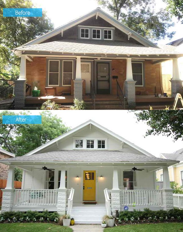 Before And After A Dilapidated Shocker Craftsman Home - Craftsman home rehabilitation in houston