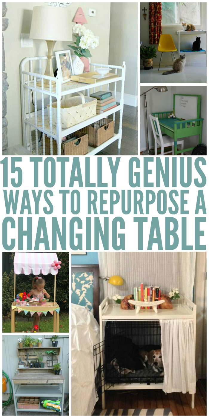 15 Genius Ways To Repurpose Changing Tables One Crazy