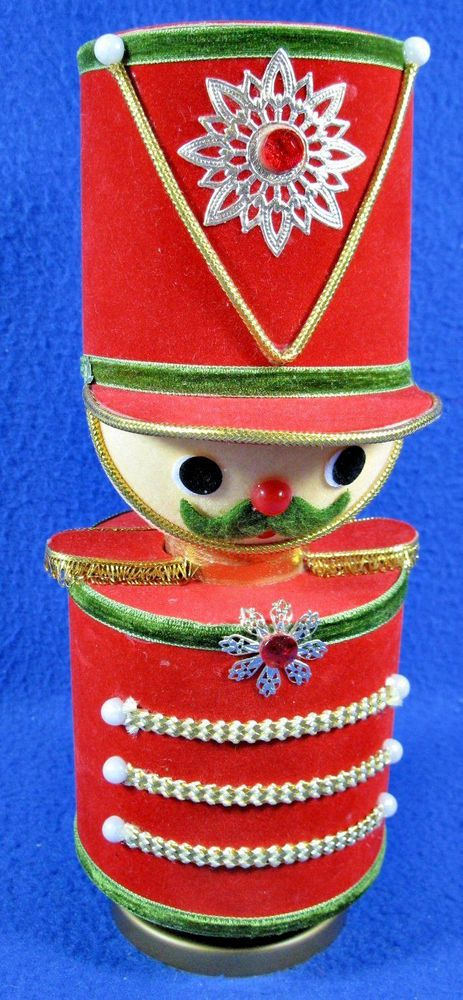 Vintage Toy Soldier Christmas Decoration Wind Up Music Box Jingle
