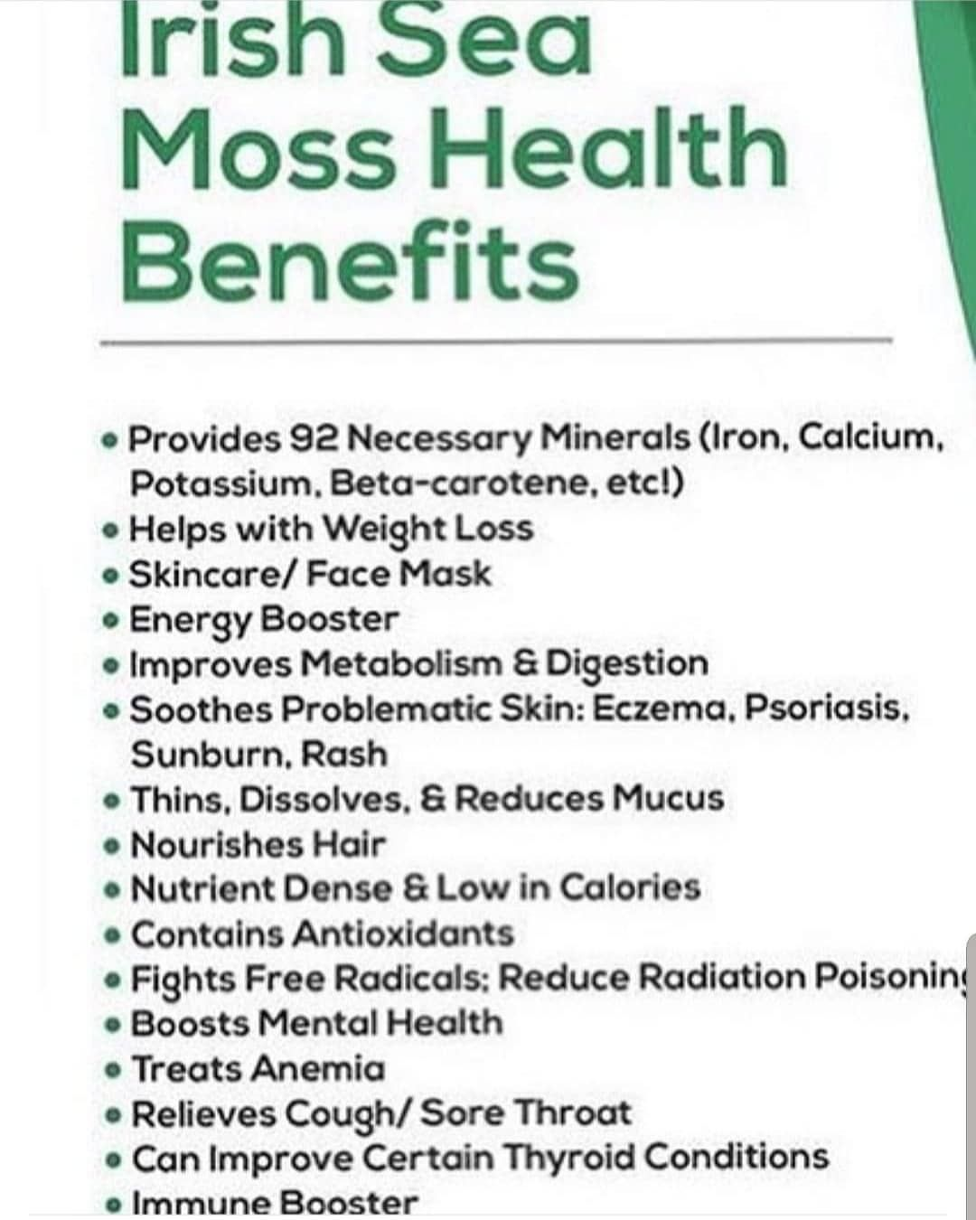 Benefits Of Sea Moss
