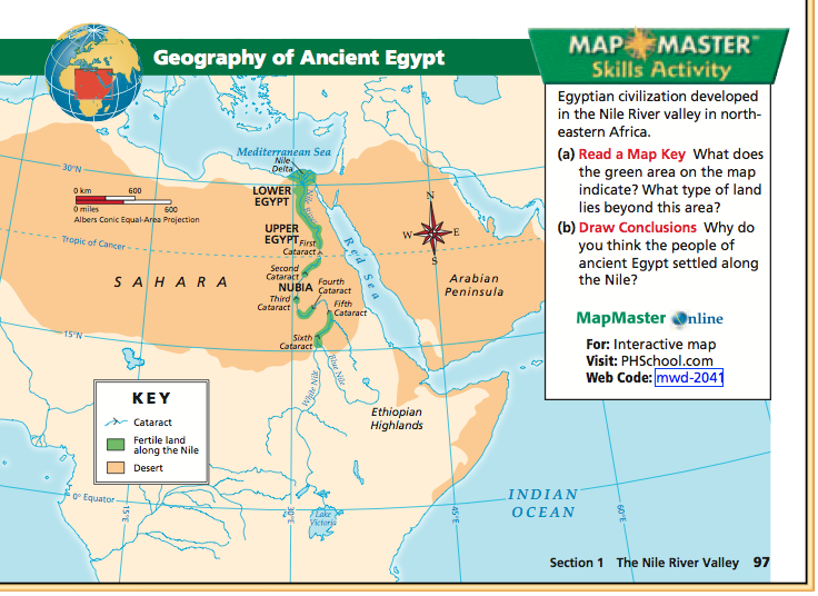 Ancient Egypt Map For 6Th Grade 6th Grade Social Studies : Mapping Ancient Egypt | Unit 2