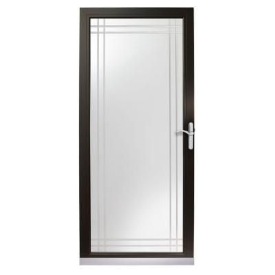 Great Screen Door After Painting Entry Door Black Andersen 3000 Series 36 In Black Full View Etched Glass Storm Glass Storm Doors Storm Door Glass Etching