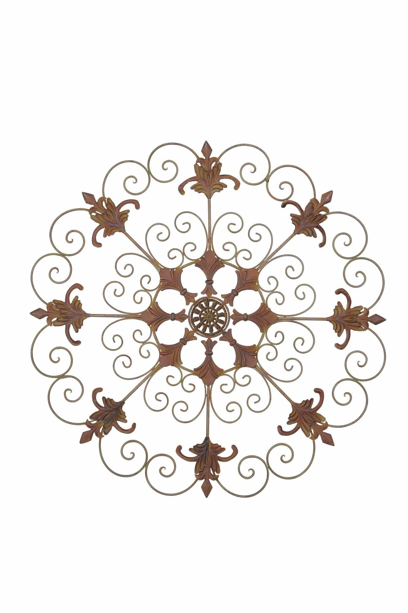 Metal garden crest laser cut metal wall décor products pinterest