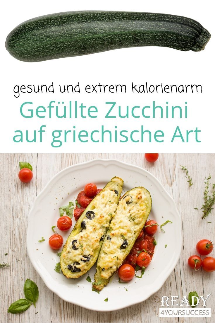 ohne kohlenhydrate vegetarisch Gefüllte Zucchini auf griechische Art Hol dir Griechenland auf den Teller Ganz einfach mit unseren Zucchinis gefüllt mit Fetak&au...