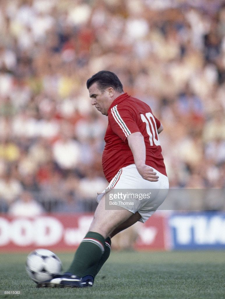Ferenc Puskas of Hungary during an exhibition match played in