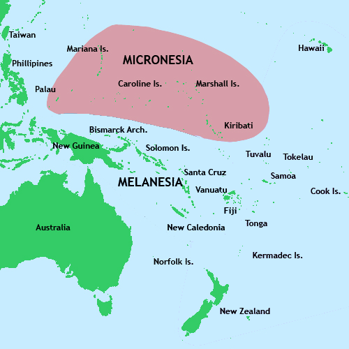 Micronesia is a group of small islands which together form eight