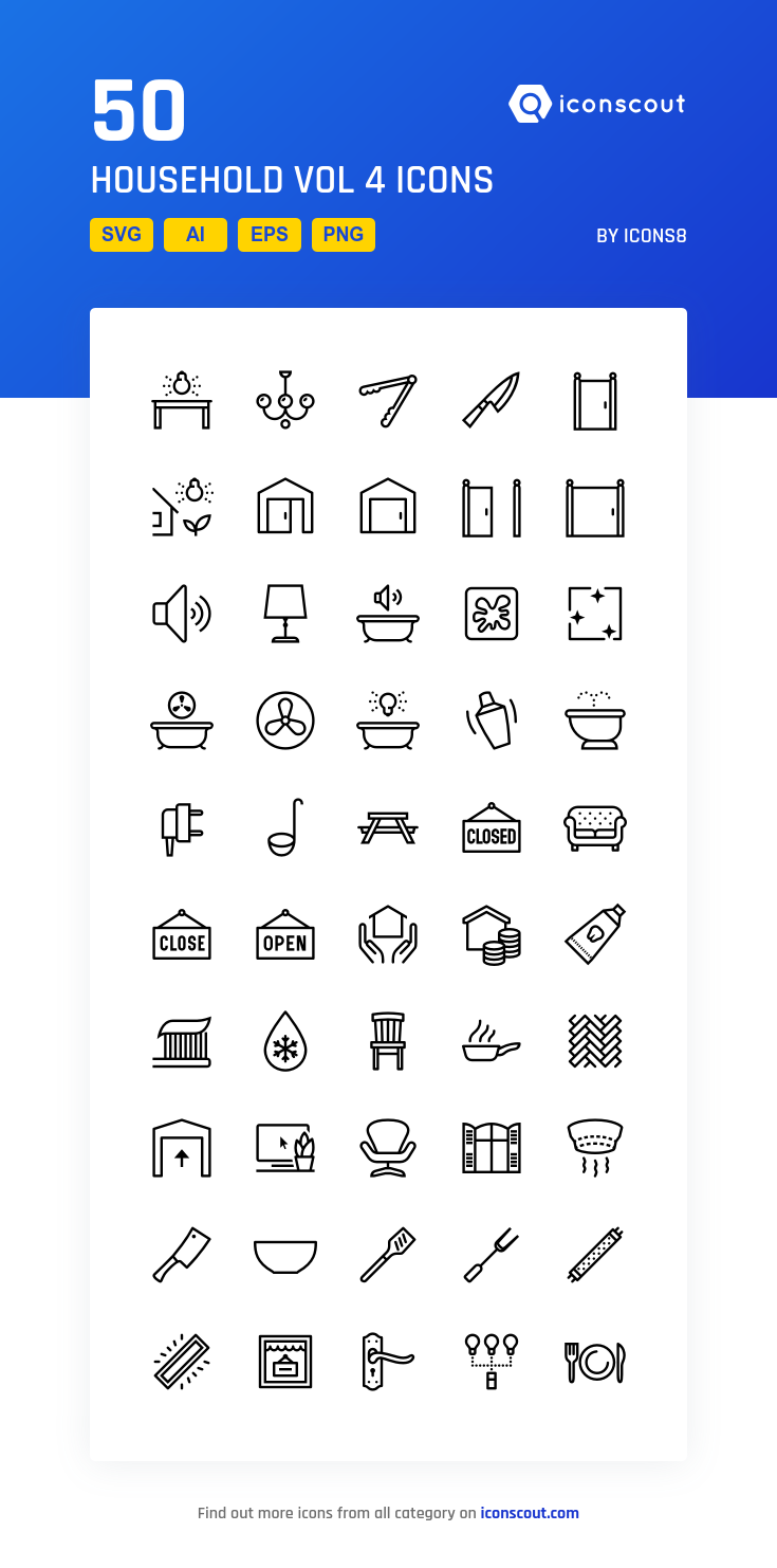Download Household Vol 4 Icon Pack Available In Svg Png Eps Ai Icon Fonts Icon Pack Icon Household